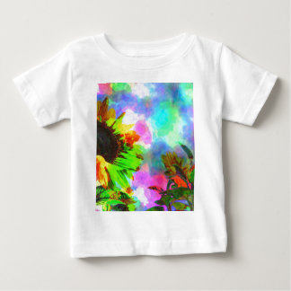 Psychedelic Sunflower Baby T-Shirt