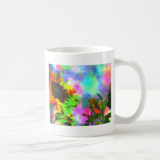 Psychedelic Sunflower Classic White Coffee Mug