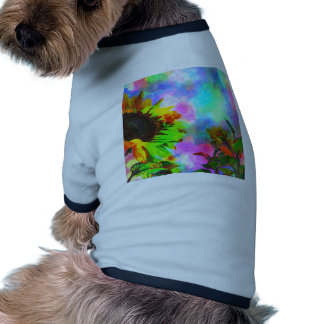 Psychedelic Sunflower Doggie Tee Shirt