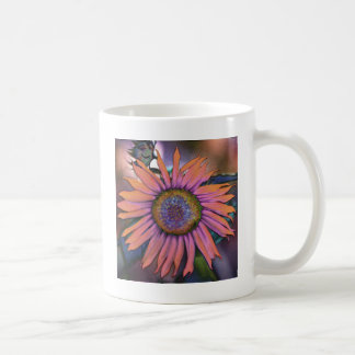 Psychedelic Sunflower Revisited Classic White Coffee Mug