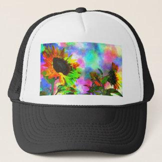 Psychedelic Sunflower Trucker Hat