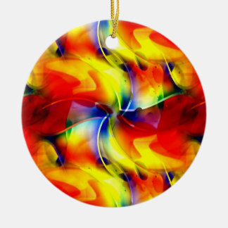 Psychedelic Sunrise Christmas Ornament