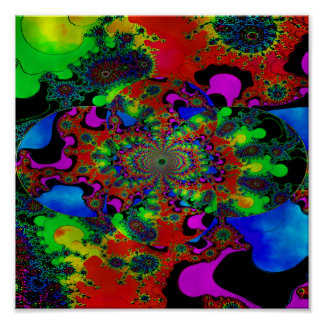 Psychedelic Sunrise In Stained Glass ~ 1 Poster