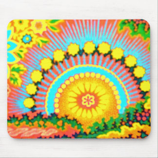 Psychedelic Sunset 60's Vintage  Mousepad