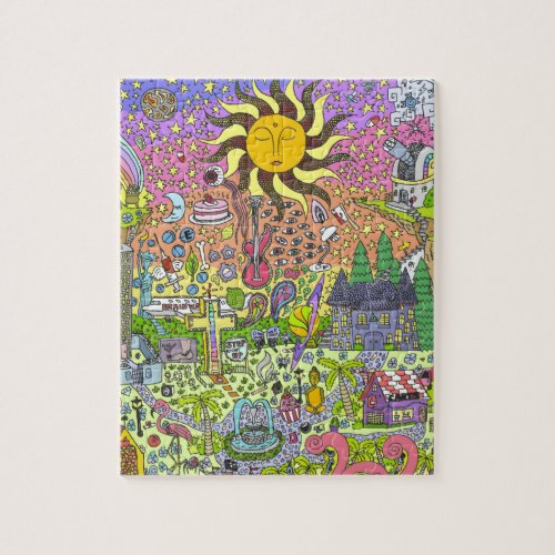 PSYCHEDELIC SUNSET JIGSAW PUZZLE