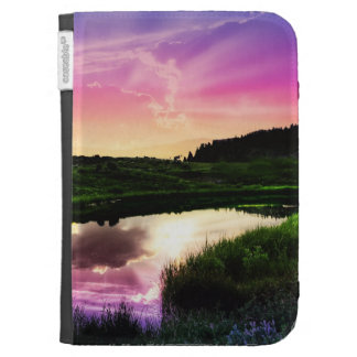 Psychedelic Sunset Kindle Case