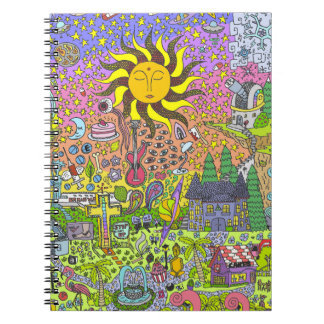 PSYCHEDELIC SUNSET NOTEBOOK