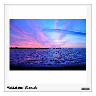 Psychedelic sunset with groovy colors wall sticker