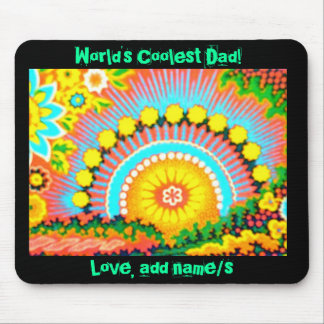 Psychedelic Sunset/worlds coolest dad Mousepad