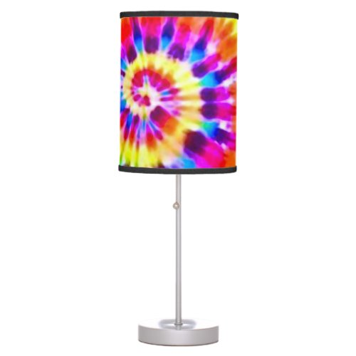 Psychedelic Super Nova Storm Tie Dye Pattern Table Lamp