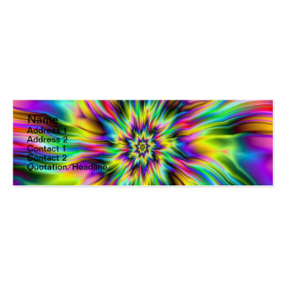 Psychedelic Supernova Card Business Card Template