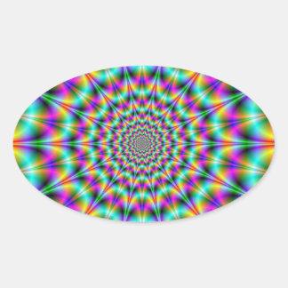 Psychedelic Supernova Oval Sticker