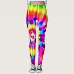 "Psychedelic Supernova Rainbow Tie Dye Leggings<br><div class=""desc"">Psychedelic Supernova Rainbow Tie Dye Leggings by BOLO Designs.</div>"