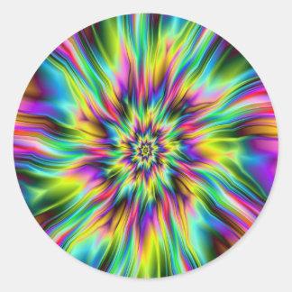Psychedelic Supernova Round Sticker