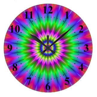 Psychedelic Supernova Wall Clock
