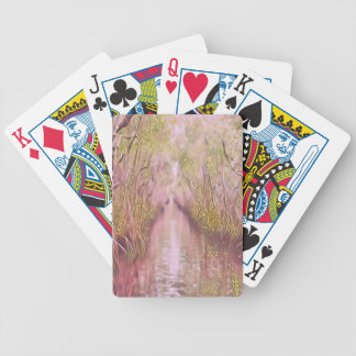 Psychedelic Swamp Bicycle Playing Cards