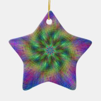 Psychedelic Swirl Ceramic Ornament