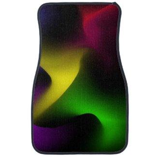Psychedelic Swirl Floor Mat