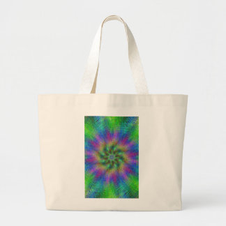 Psychedelic Swirl Large Tote Bag