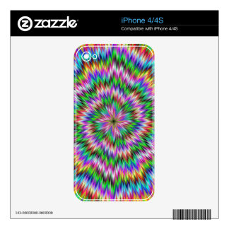 Psychedelic Swirl Skin For iPhone 4