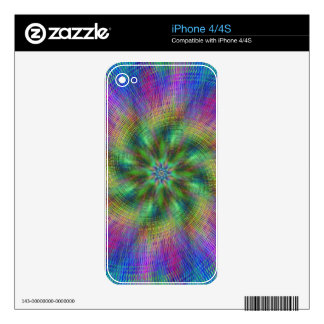 Psychedelic Swirl Skin For The iPhone 4