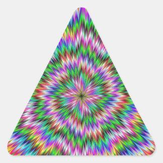 Psychedelic Swirl Triangle Sticker