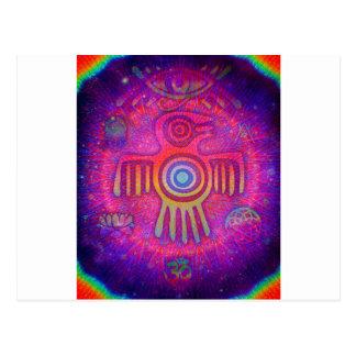 Psychedelic Symbols Postcard