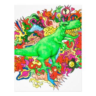 Psychedelic T-Rex Letterhead