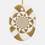 Psychedelic Tan Christmas Ornaments