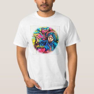 Psychedelic Tee by F.Bizo white