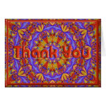 Psychedelic Thank You Card Template