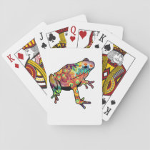 Psychedelic Themed Frog Playing Deck Playing Cards