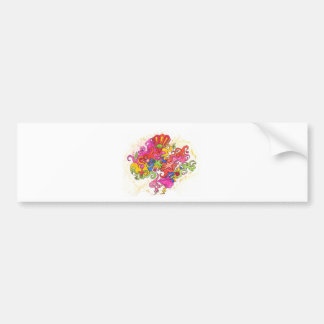 Psychedelic Thoughts Bumper Sticker