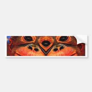 Psychedelic Three Eyed Monkey Bumper Sticker
