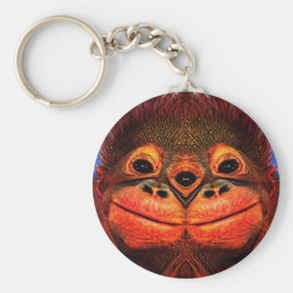 Psychedelic Three Eyed Monkey Keychain