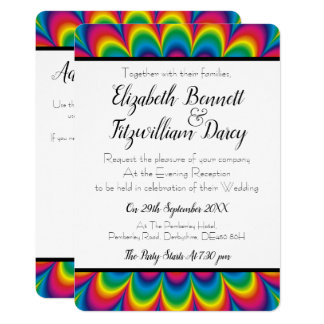 Psychedelic Tie Dye Evening Invitation