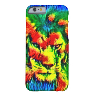 Psychedelic Tie Dye Lion Wildlife Art Barely There iPhone 6 Case