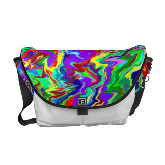 Psychedelic Tie Dye Messenger Bag