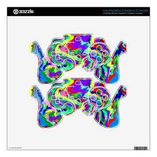 Psychedelic Tie Dye PlayStation 3 Controller Skin PS3 Controller Skins