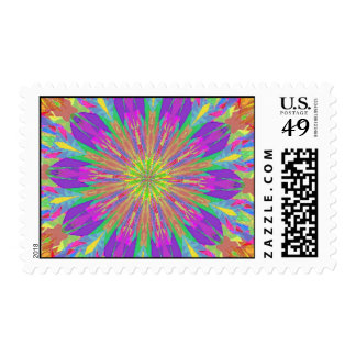 Psychedelic Tie Dye Postage