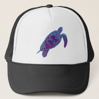 Psychedelic Tie-Dye Sea Turtle Trucker Hat
