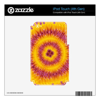 Psychedelic tie dye vintage iPod touch 4G skin