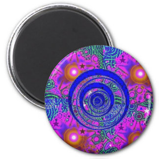 Psychedelic Time Warp 2 Inch Round Magnet