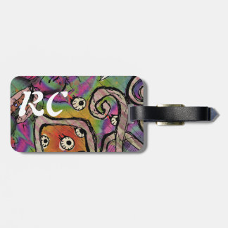 Psychedelic Torment Design Luggage Tag