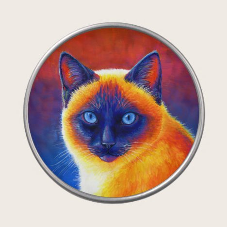 Psychedelic Traditional Siamese Cat Candy Tin