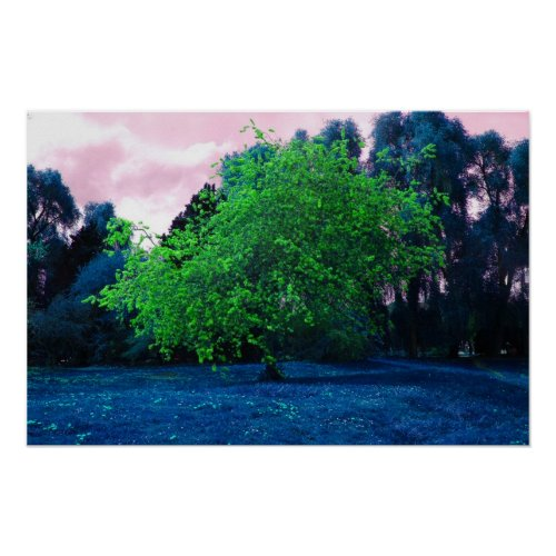 Psychedelic tree poster