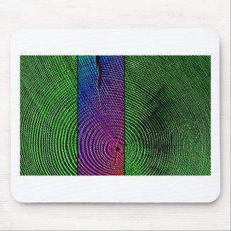 Psychedelic Tree Rings Mouse Pad