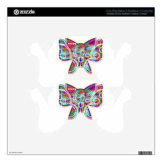 Psychedelic tripper Bow Decal For PS3 Controller