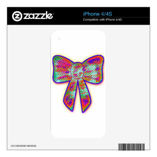 Psychedelic tripper Bow Skin For The iPhone 4