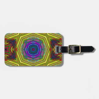 Psychedelic Trippy Abstract Tag For Luggage